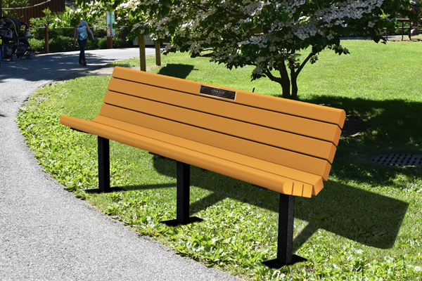 Rendering of a commemorative bench in the Zoo