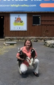 Melissa and baby goats