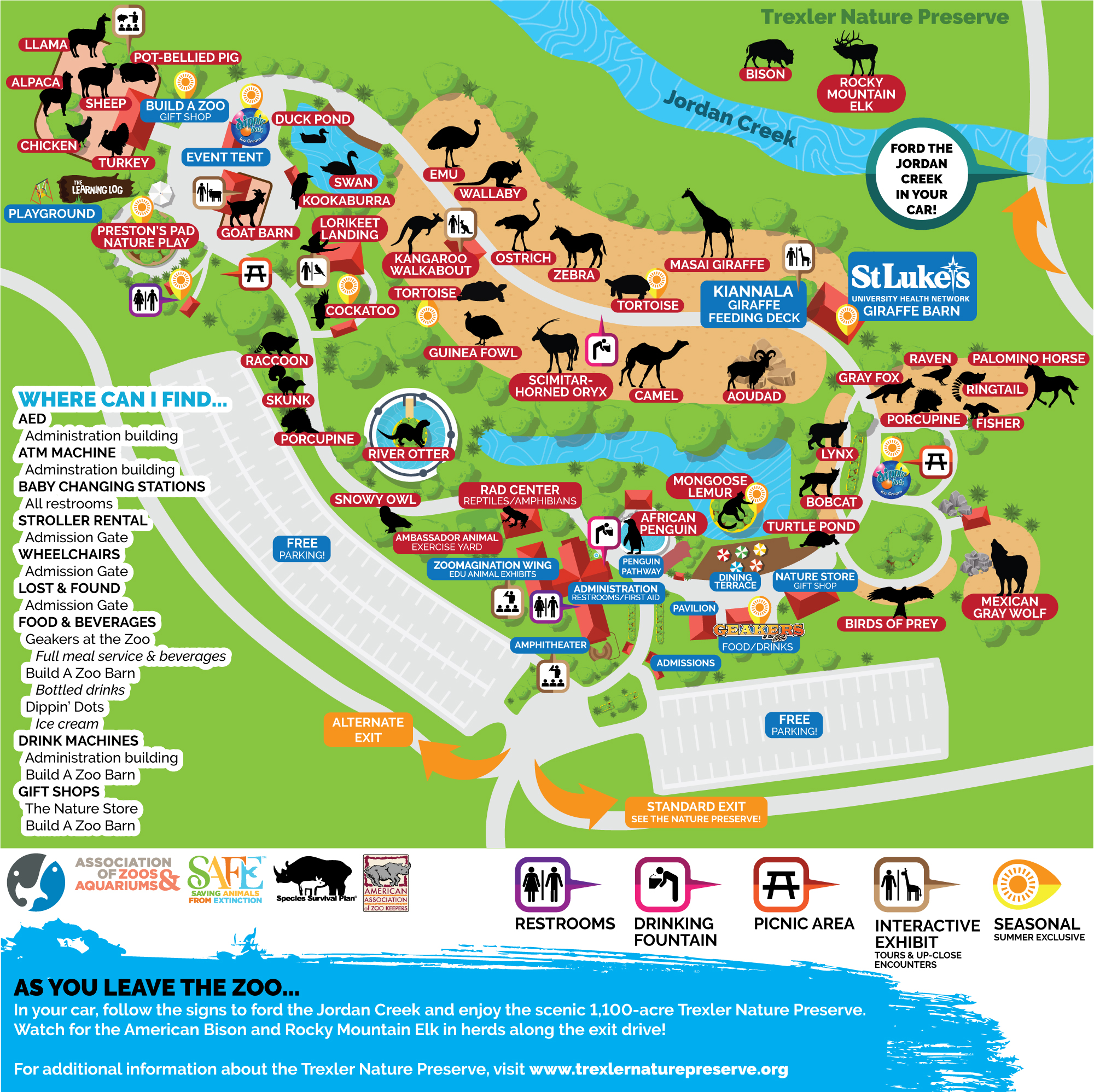 Zoo Map - Lehigh Valley Zoo Zoo Map on playground map, aquarium map, z nation map, zog map, community map, parks map, museum map, beach map, ocean map, illegal wildlife trade map, animal map, neighborhood map, bedroom map, world map, sense8 map, big cat map, singapore map, farm map, stadium map, the 100 map,